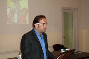Marco Bonanomi, attore della compagnia Il Socco e la Maschera e regista del laboratorio teatrale del fotogruppo Effeotto