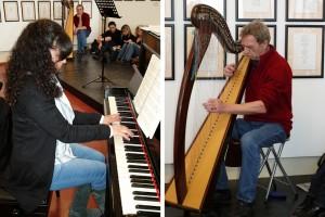 I musicisti Katia Biffi e Danilo Marzorati
