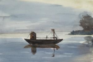 Giovanna Caracciolo - Imbersago, traghetto di sera