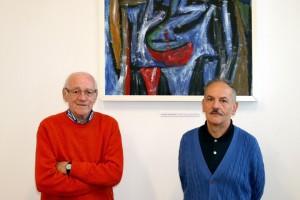 Il poeta Sandro Rigamonti e il fotografo Sergio Viganò