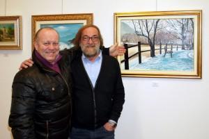 Emanuele Brivio con l'amico attore Leo valli
