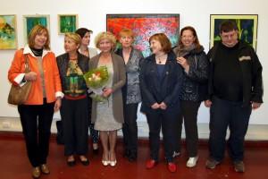 Gruppo di allievi della scuola d'arte Massimo Bollani