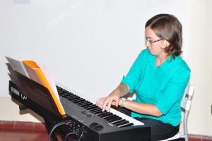 La musicista Cristina Mazzarotto