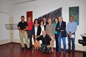 Foto di gruppo con i Sindaci di Casargo  Pina Scarpa e di Montevecchia Sandro Capra