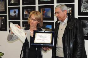 Il Vicesindaco Salvatore Krassowsky premia Antonella Gariboldi