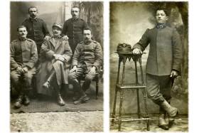 Luigi Biella con commilitoni di cavalleria e Stefano Spada del Reparto sanità