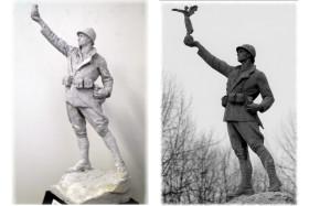 Modello in gesso e il monumento realizzato