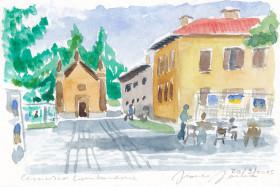 Acquarello di Franco Farina - Cernusco L. 20 settembre 2015