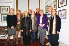 Foto di gruppo con gli allievi del corso di acquarello dell'Auser