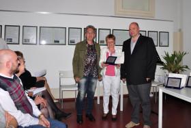 Ornella Zambelli con il fotografo Pierluigi Coglliati e Giovanni Zardoni