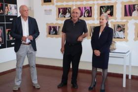 Giordano Cereda con il Presidente di Effeotto Giuseppe Gironi e il Sindaco Giovanna De Capitani