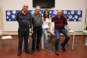 Il Presidente Giuseppe Gironi con Claudio Torresani, Roberta Castiglioni e Luca Passoni