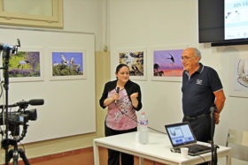 L'assessore Valeria Pirovano ed il Presidetne Giuseppe Gironi