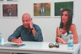 Luca Passoni e la zoologa Roberta Castiglioni