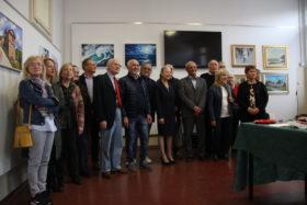 Foto di gruppo con tutti i pittori partecipanti