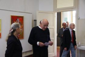 Il presidente Giuseppe Gironi introduce la serata inaugurale